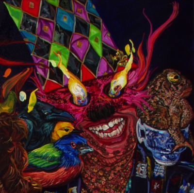 Louisiana, frog, fish, water, paintings, Melissa Sarat, Mardi Gras, Baba Yaga, angels, guardians, candles, flames, environment, earth, jewelry, dance, celebration, New Orleans, Melissa Sarat art, Holy Spirit, toad, birds, masks, costumes, teacup, china, migrants, love